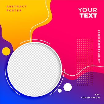 Stylish social media post banner design template