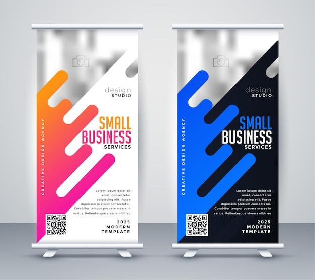 Elegante design in piedi per la tua presentazione aziendale