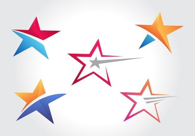 Stylish star symbol design collections