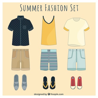 Stylish summer fashion set for men