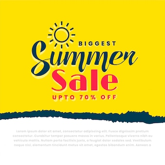 Stylish summer sale yellow banner