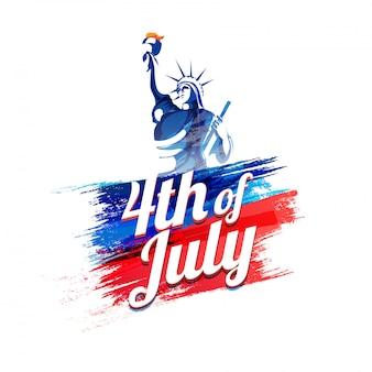 Stylish text 4th of july