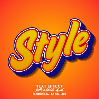 Stylish and trendy script font effect