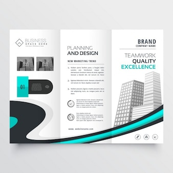 Stylish trifold brochure presentation template