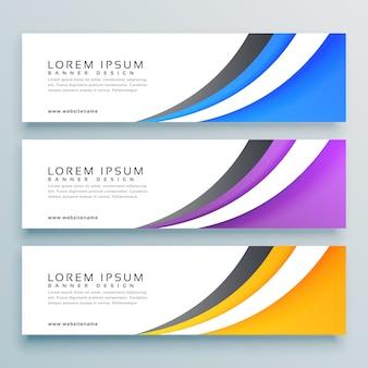 Stylish vector headers banner design
