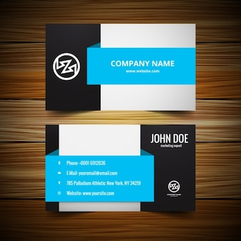 Stylish visiting card template Free Vector