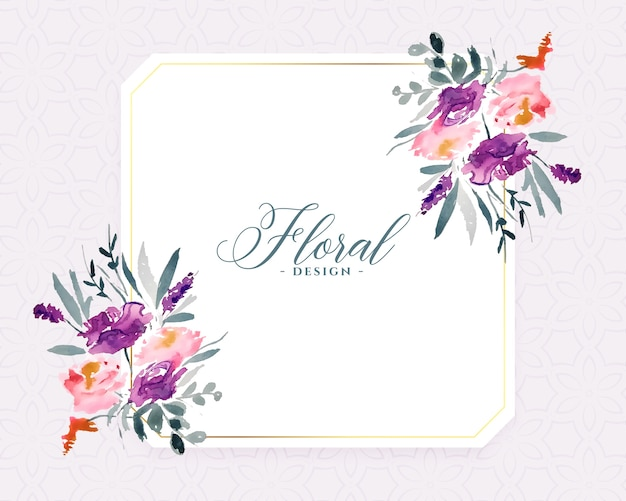 Stylish watercolor flowers background