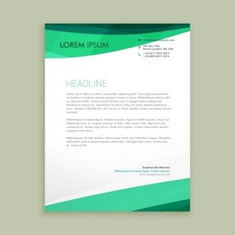 Stylish wavy letterhead design