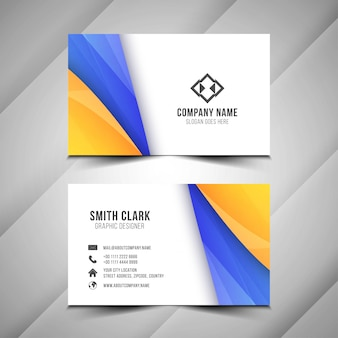 Stylish wavy modern business card