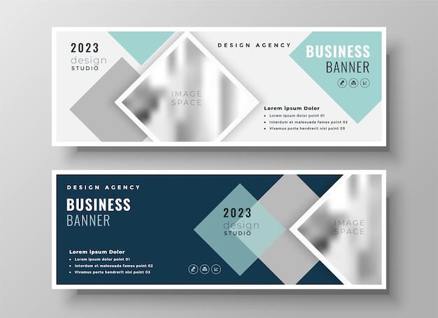 Стильный веб-бизнес, современная обложка facebook или дизайн шаблона заголовка