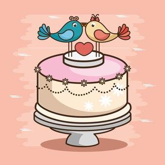 Стильный свадебный торт