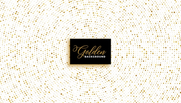 Stylish white background with golden glitter effect