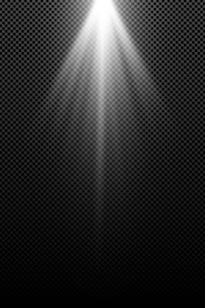 Stylish white light effect isolated . white rays. lamp beams. bright abstract light. radiation from above.