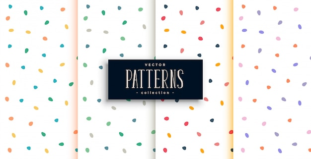 Stylish white pattern with colorful curve round shapes