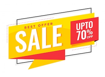 Stylish yellow sale banner design