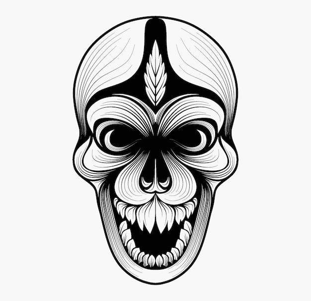 Zentangle 스타일의 두개골 스타일 리즈.