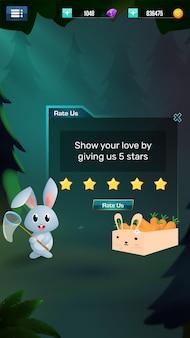 스타일화 게임 ui 요소 메뉴 팝업
