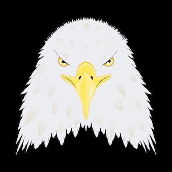 Stylized bald eagle head
