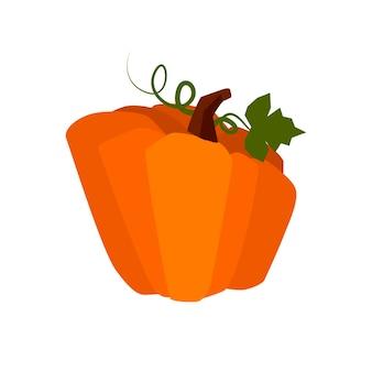 Стилизованная мультяшная тыква, изолированный овощ для пользовательского интерфейса игры.