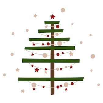 Stylized christmas tree. vector illustration.