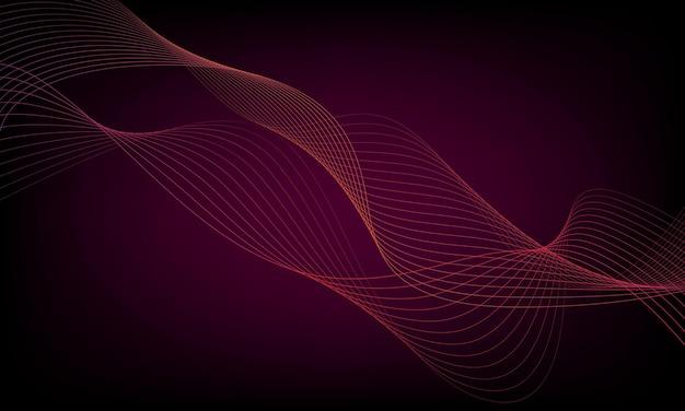 様式化されたカラフルなウェーブライン。デザインの要素。