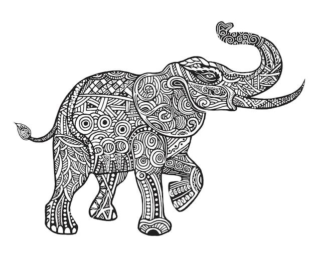 The stylized an elephant