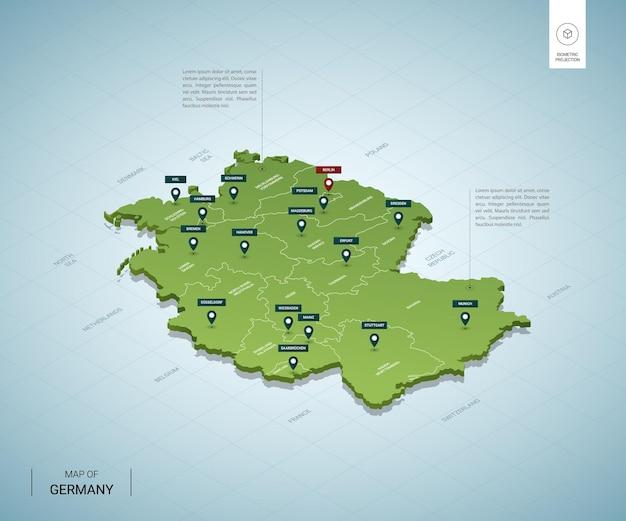 Stylized map of germany.