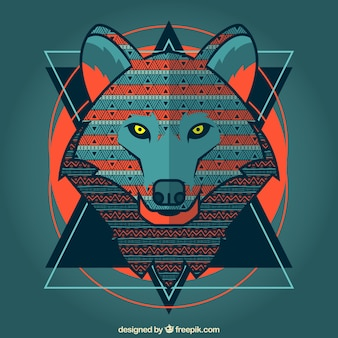 様式化されたオオカミ