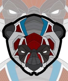 양식에 일치시키는 zentangle 동물 색칠 팬더 그림