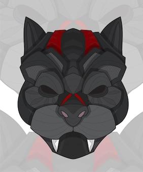 양식에 일치시키는 zentangle 색칠 동물 퍼그 개 그림