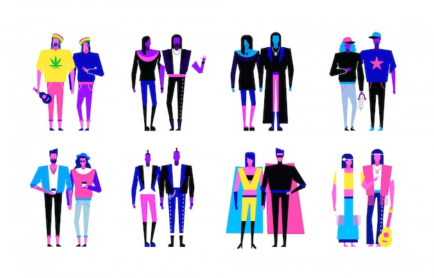 Subculture characters set