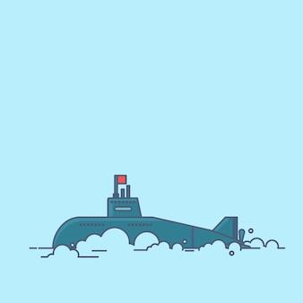 Submarine vector vector illustration