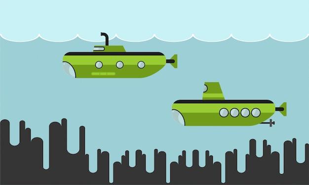 Submarines illustration