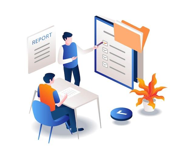 보고서 제출 및 계획 승인