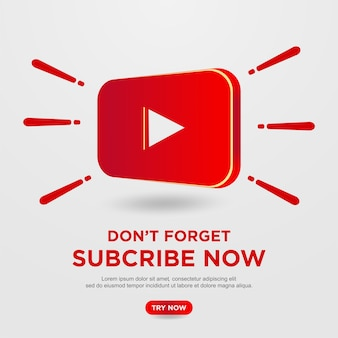 Subscribe button with youtube background