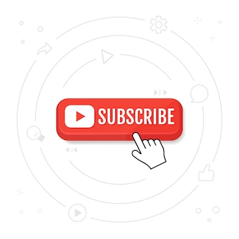 Subscribe, call button and hand cursor