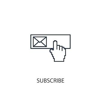 개념 라인 아이콘을 구독합니다. 간단한 요소 그림입니다. 개념 개요 기호 디자인을 구독합니다. 웹 및 모바일 ui/ux에 사용할 수 있습니다.