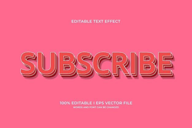 편집 가능한 텍스트 효과 구독