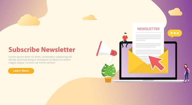 Subscribe newsletter concept