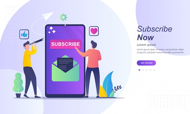 Subscribe now concept