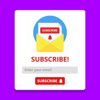 Subscribe now for our newsletter concept