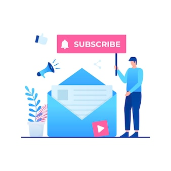 Subscribe to our newsletter illustration concept.