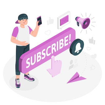 Subscriber concept illustration