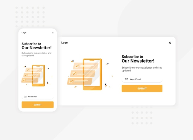 Subscription to newsletter banner template