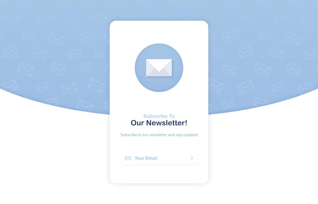 Subscription to newsletter pop up banner template