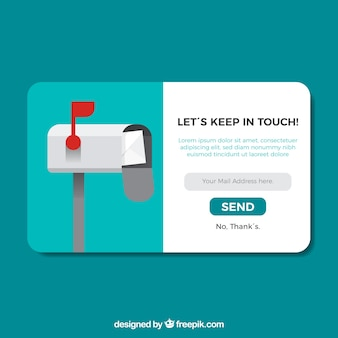 Subscription pop up with flat design