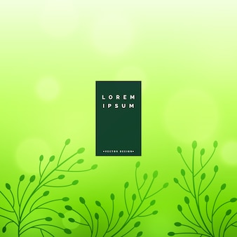 Subtle green floral leaves background