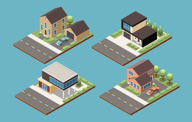 郊外の建物セット
