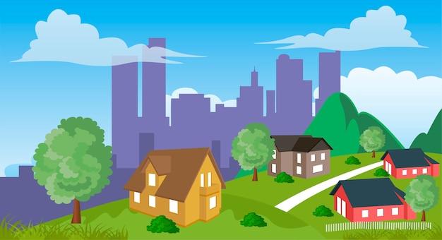 郊外の住宅