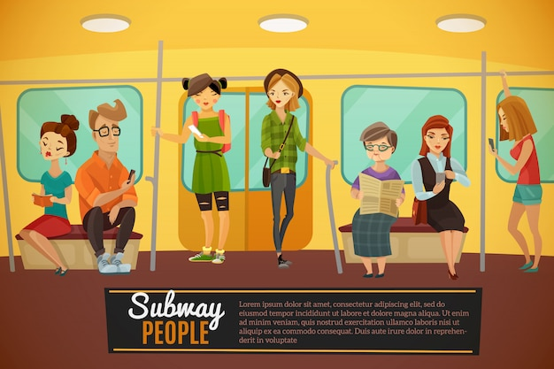 Subway  background illustration
